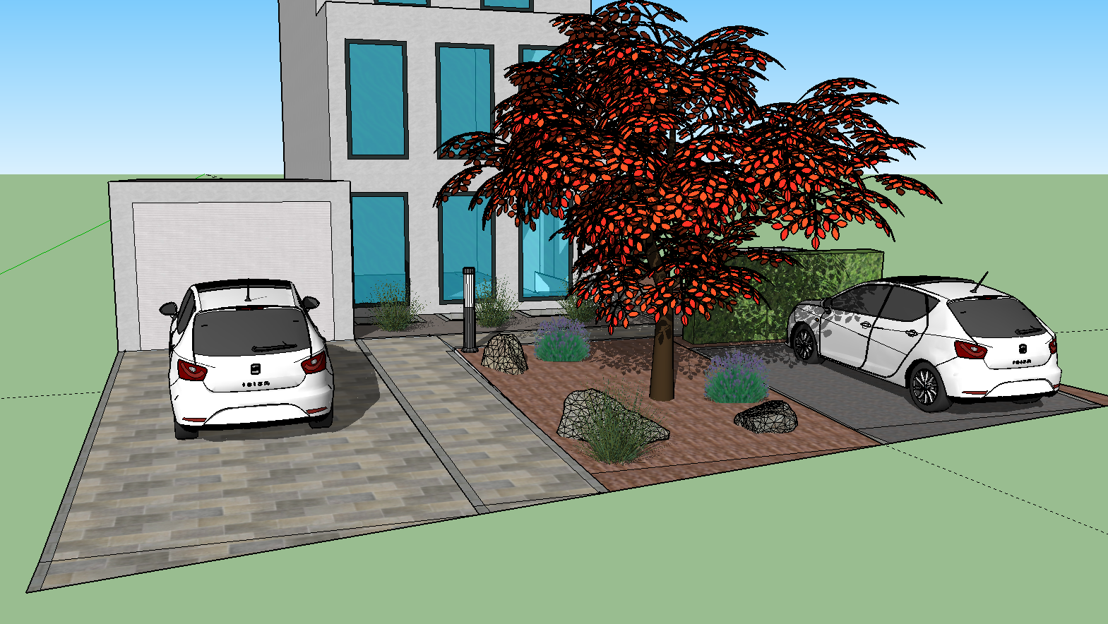 Döring-Gartengestaltung Vorgarten Planung